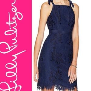 NWT Lilly Pulitzer Kayleigh Navy Lace Dress
